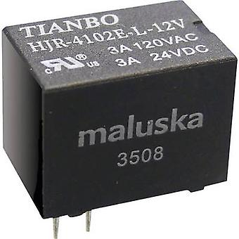Tianbo Electronics HJR4102E-L-12VDC-S-Z PCB relays 12 Vdc 5 A 1 change-over 1 pc(s)