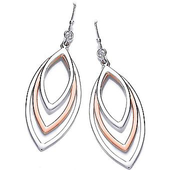Cavendish French Peacock Earrings - Silver/Copper