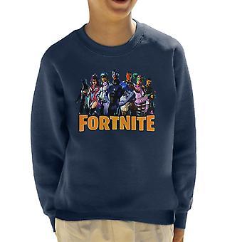 Moletom Fortnite personagem montagem infantil