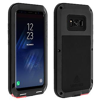 Love Mei powerful hybrid shockproof case for Samsung Galaxy S8 - Black