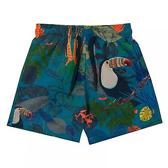 Paul Smith Juniors Tropical Print Swim Shorts (Turquoise)