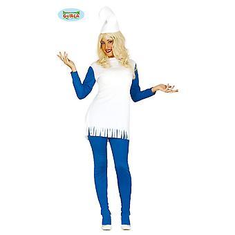 GNOMO enano traje azul enano señora traje una talla