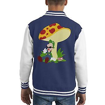 Super Mario Luigi Relaxing Time Kid's Varsity Jacket