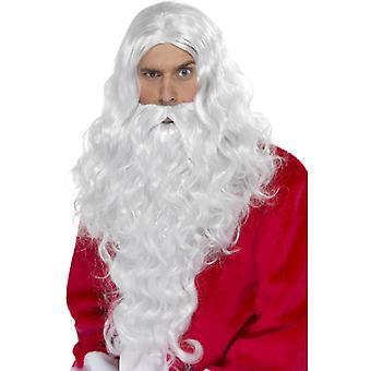 Nicholas wig lange Santa parykk