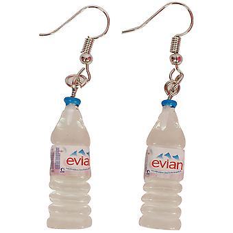 Bijoux et couronnes de bouteilles d'eau de boucles d'oreilles