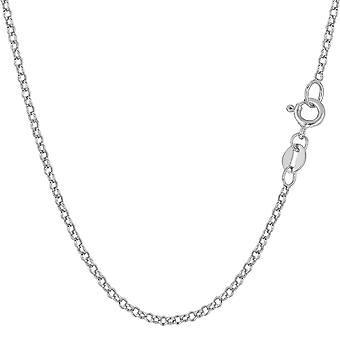 14 k White Gold ronde Rolo Link Chain ketting, 1.85mm