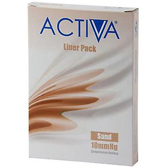 Activa Compression Tights Tights Liners Sand Small 10Mmhg 3