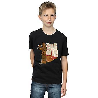 Star Wars gutter Solo Chewie Falcon t-skjorte