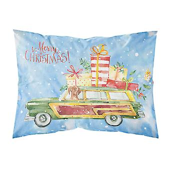 Merry Christmas Vizsla Fabric Standard Pillowcase