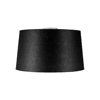 QAZQA Ceiling Lamp Combi White with Black Shade