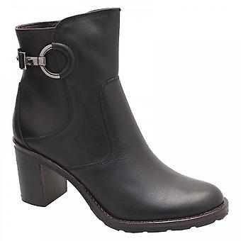 Luis Gonzalo Block Heel Buckle Black Ankle Boot
