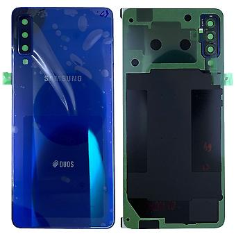 Samsung GH82-17833D battery cover cover for Galaxy A7 2018 A750F + adhesive pad blue