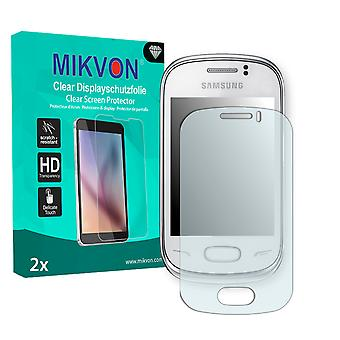Samsung S3800W Rex 70 Screen Protector - Mikvon Clear (Retail Package with accessories)