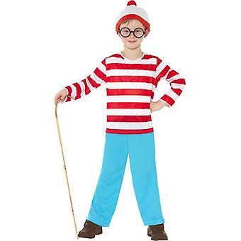 Where's Wally Costume, Medium Age 7-9