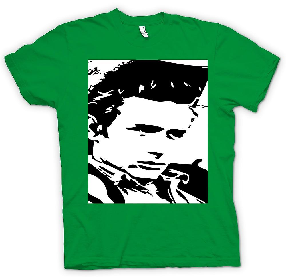 Heren T-shirt - James Dean Portrait - Icon - BW
