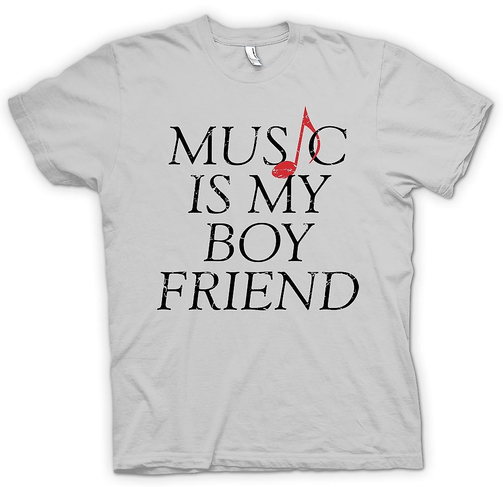 Heren T-shirt-muziek Is mijn vriendje