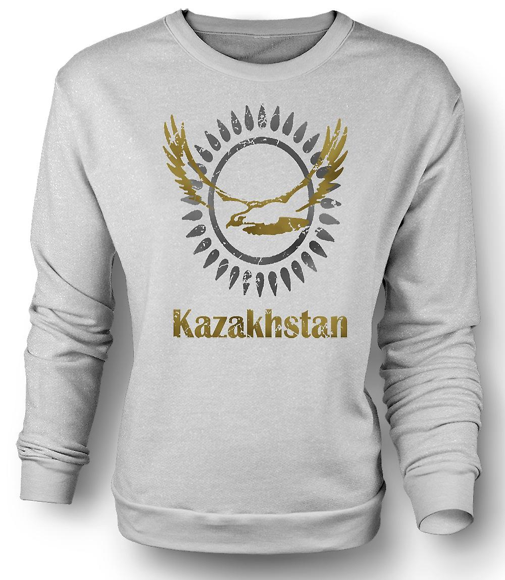 Mens Sweatshirt Kazakstan - Cool Design Funny