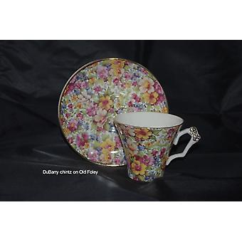 English earthenware cup & saucer.  Old Foley.  Collectible