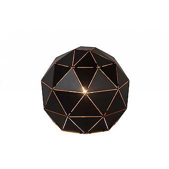 Lucide Majstora moderne ronde metalen zwarte tafellamp