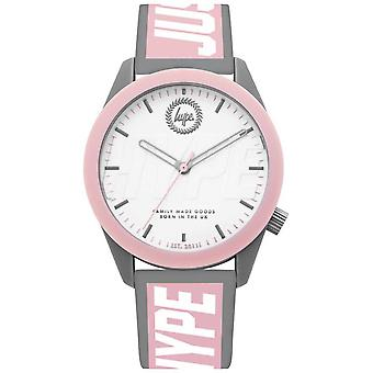 Hype   Ladies   Grey And Pink Silicone Strap   HYL018PW Watch