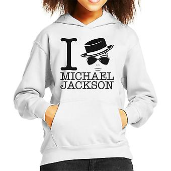 I Heart Michael Jackson Kid's Hooded Sweatshirt