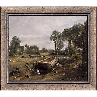 Med ram Boat-building near Flatford Mill,John Constable,61x51cm