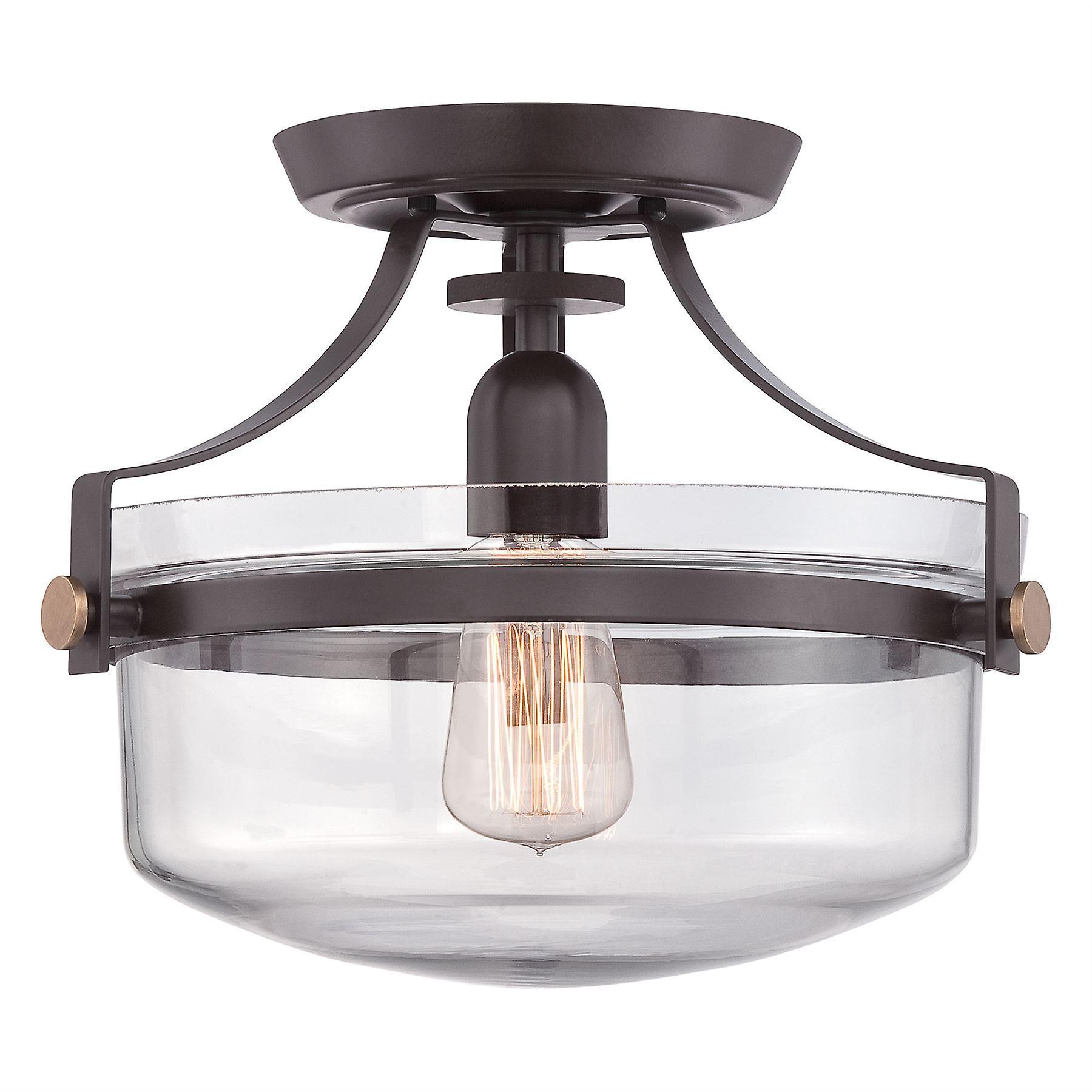 Penn Station Semi Flush Ceiling Light - Elstead Lighting Qz   Pennstat   F WT