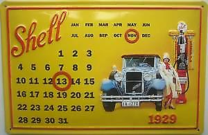 Shell Petrol embossed steel everlasting wall calendar     (hi 3020)