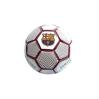 FC Barcelona Diamond Official Supporter Mini Football Soccer Ball White - Size 1
