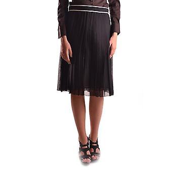 Dolce E Gabbana schwarz Seidenrock