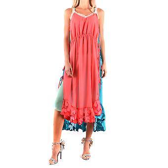Marco De Vincenzo Multicolor Polyester Dress