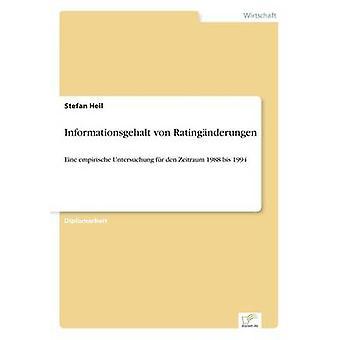 Informationsgehalt von Ratingnderungen av Heil & Stefan