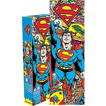 Superman Retro slim 1000 piece jigsaw puzzle   (nm)
