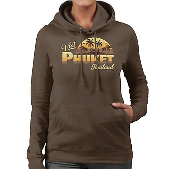 Besök Phuket Retro Beach Women's Hooded Sweatshirt