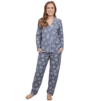 Cyberjammies 3861 Women's Fifi Grey Floral Pajama Pyjama Top