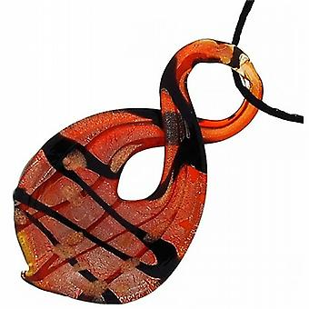The Olivia Collection Red Figure of 8 Design Glass Cut Pendant on 18.5