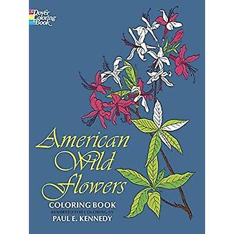 American Wild Flowers Coloring Book Book