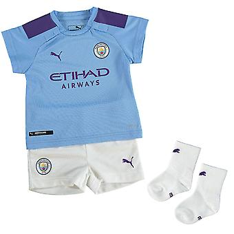 Puma Manchester City 2019/20 Infant Kids Baby Home Football Kit Blue