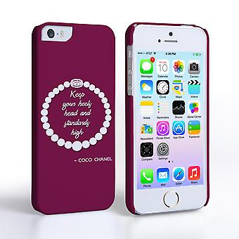 Caseflex iPhone 55-plussers Chanel Diamond And Pearls citaat kast