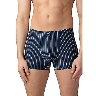 Mey Men 16621-668 Men's Taby Yacht Blue Striped Fitted Boxer