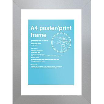 Eton zilver Frame A4 Poster / Frame afdrukken