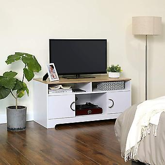 Bicolor TV Cabinet-white/natural