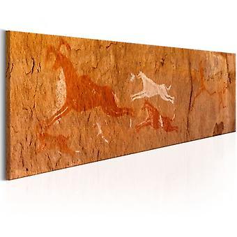 Artgeist Leinwanddruck Höhlenmalereien (Dekoration , Gemälde & Bilder , Leinwände)