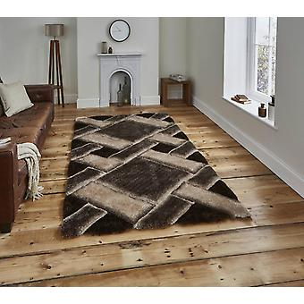 Noble House 9716 Brown Beige  Rectangle Rugs Plain/Nearly Plain Rugs