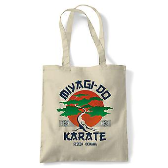 Miyagi Do Karate Movie Inspired Tote | Reusable Shopping Cotton Canvas Long Handled Natural Shopper Eco-Friendly