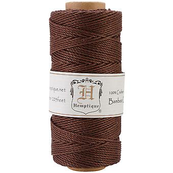 Bamboo Cord Spool 20# 205 Feet Pkg Brown Bs Bro