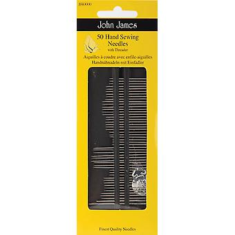 Hand Needles With Threader 50 Pkg Jj40000
