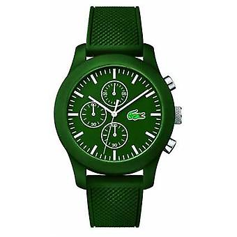 Lacoste Mens 12.12 Chrono Green gummi rem Green ringe 2010822 Watch