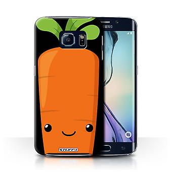 STUFF4 Дело/чехол для Samsung Galaxy S6 Edge/морковь/Kawaii пищи