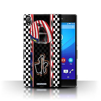 STUFF4 Case/Cover voor Sony Xperia Z3 +/ Plus/Maleisië/Kuala Lumpur/F1 Track vlag